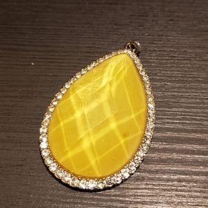 Big Yellow drop pendant